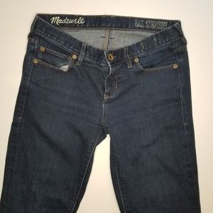 Madewell Dark Denim Jean's Rail Straight